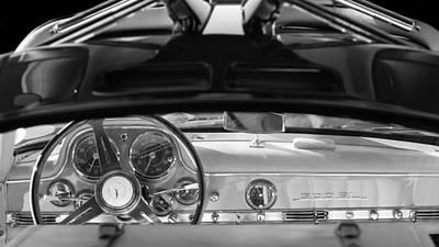 1955 Mercedes-benz Gullwing Dashboard - Steering Wheel Poster by Jill Reger