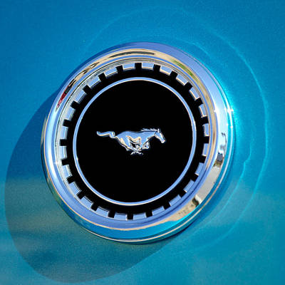 1969 Ford Mustang Mach 1 Emblem Poster by Jill Reger