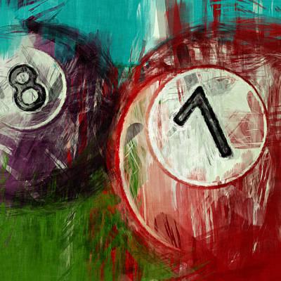 7 8 Billiards Poster by David G Paul