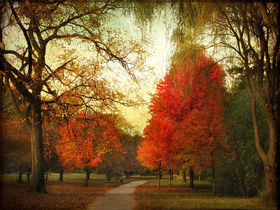 Autumn Promenade Poster by Jessica Jenney