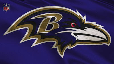 Baltimore Ravens Uniform Poster by Joe Hamilton