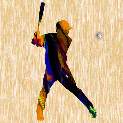 Baseball Poster by Marvin Blaine