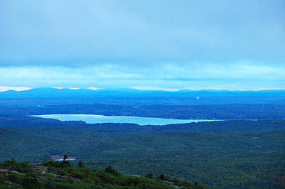Bird's-eye View From Cadillac Mountain Acadia National Park Poster by Paul Ge