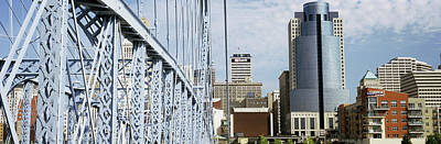 Bridge With Skyscrapers Poster by Panoramic Images