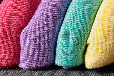 Colorful Fabrics Poster