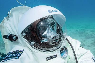 Esa Underwater Astronaut Training Poster by Alexis Rosenfeld