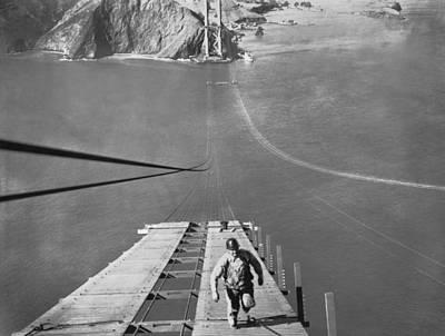 Golden Gate Bridge Work Poster by Underwood Archives