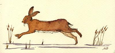 Hare Poster by Juan  Bosco