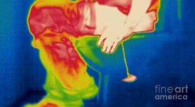 Man Urinating, Thermogram Poster by Thierry Berrod, Mona Lisa Production/ Science Photo Library