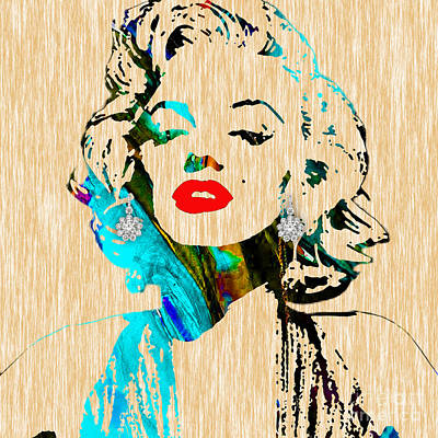 Marilyn Monroe Diamond Earring Collection Poster