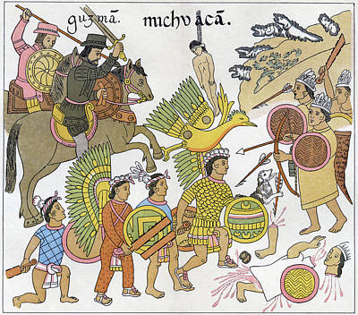 Mexico Spanish Conquest Poster by Granger