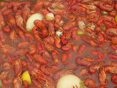 New Orleans French Quarter Cajun Food Seafood By Art504 Poster