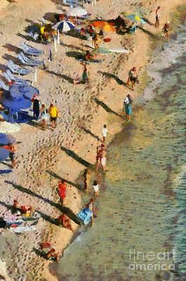 Porto Katsiki Beach In Lefkada Island Poster by George Atsametakis