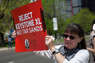 Protest Against Keystone Xl Pipeline Poster by Jim West