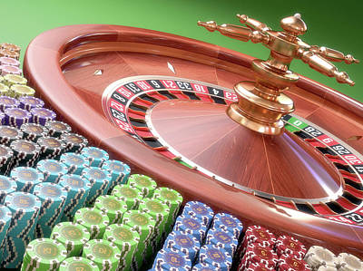 Roulette Wheel Poster by Ktsdesign