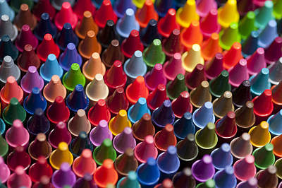 Rows Of Multicolored Crayons  Poster by Jim Corwin
