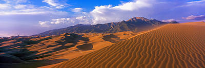 Sand Dunes In A Desert, Great Sand Poster