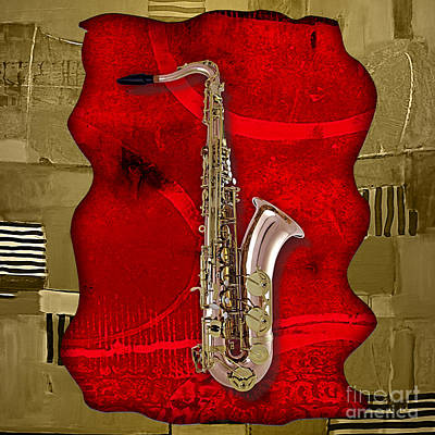 Saxophone Collection Poster by Marvin Blaine