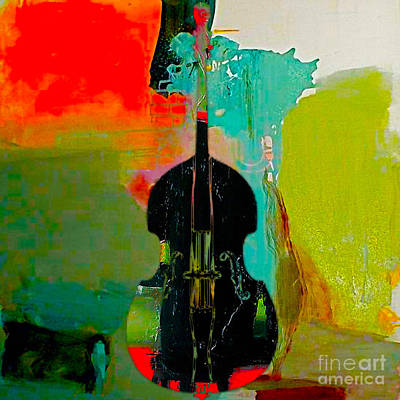 Upright Bass Poster by Marvin Blaine
