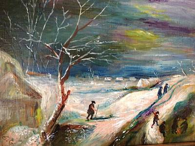 Winter Landscape Poster by Egidio Graziani