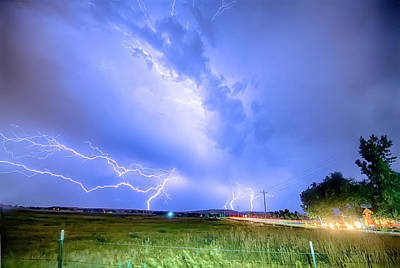 95th And Woodland Lightning Thunderstorm View Hdr Poster by James BO  Insogna