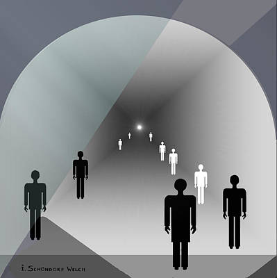 789 - Light At The End Of The Tunnel Poster by Irmgard Schoendorf Welch