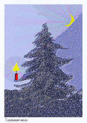 792 -  Lonely Candle  Poster by Irmgard Schoendorf Welch