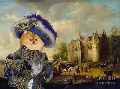 Pomeranian Art Canvas Print Poster