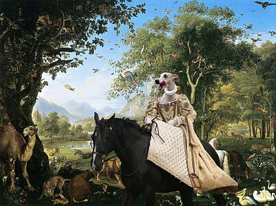 Whippet  Art Canvas Print  Poster by Sandra Sij