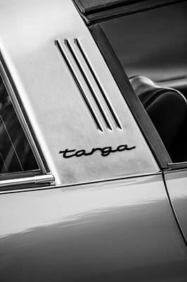 1973 Porsche 911 E Targa Emblem Poster