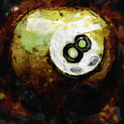 8 Ball Abstract Poster