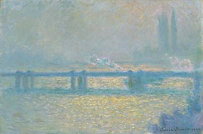 Charing Cross Bridge Poster by Claude Monet
