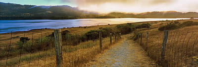 Dirt Road Passing Through A Landscape Poster by Panoramic Images