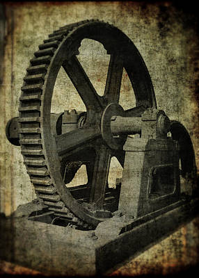 8 Ft Diameter Industrial Gear Poster by Daniel Hagerman