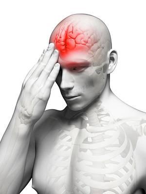 Headache Poster by Sebastian Kaulitzki
