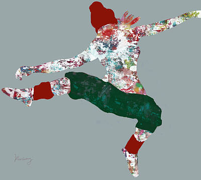 Hip Hop Street Dancing  Pop Stylised Art Poster Poster