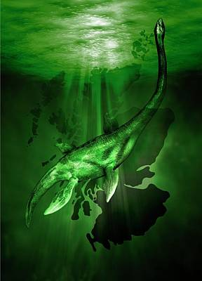 Loch Ness Monster Poster by Victor Habbick Visions