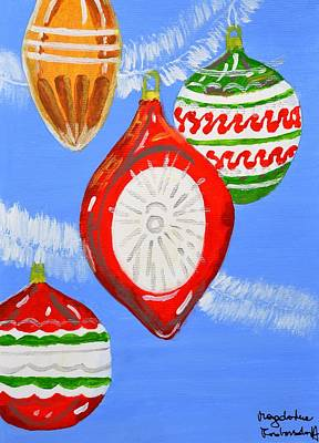 Poster featuring the painting Merry Christmas  by Magdalena Frohnsdorff