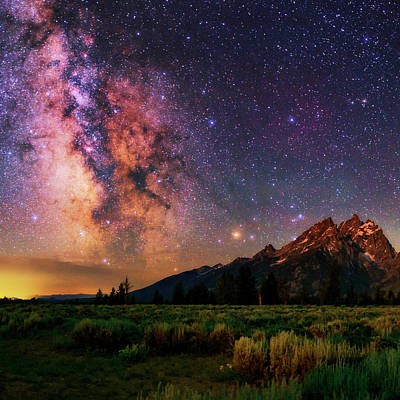 Milky Way Over Grand Teton National Park Poster by Babak Tafreshi