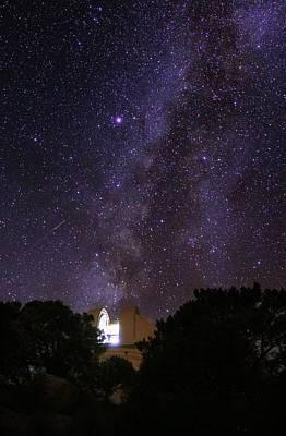 Milky Way Over Kitt Peak Observatory Poster