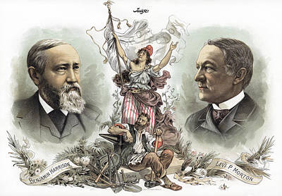 Presidential Campaign, 1888 Poster by Granger