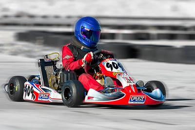 Racing Go Kart Poster by Gunter Nezhoda