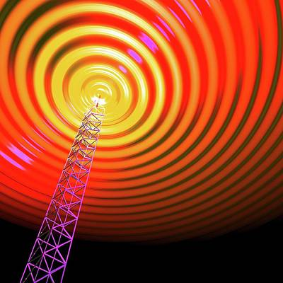 Radio Communications Tower Poster