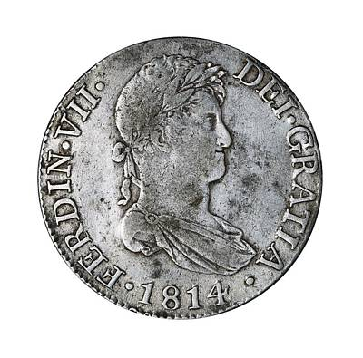 8 Reales Silver Coin From Ferdinand Poster
