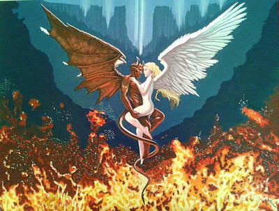 Angel And Devil Poster by Bozena Simeth