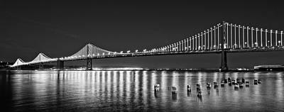 Suspension Bridge Over Pacific Ocean Poster