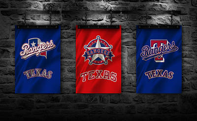 Texas Rangers Poster by Joe Hamilton
