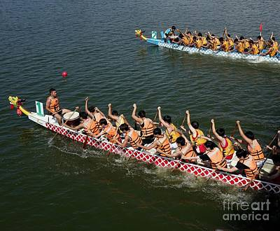 The 2014 Dragon Boat Festival In Kaohsiung Taiwan Poster