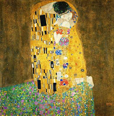 Poster featuring the painting The Kiss by Gustav Klimt
