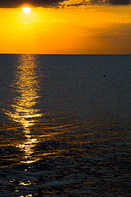 Poster featuring the photograph 8.16.13 Sunrise Over Lake Michigan North Of Chicago 003 by Michael  Bennett